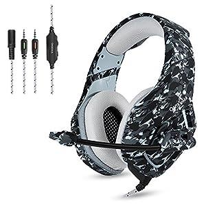 ONIKUMA K1-B Gaming Kopfhörer PS4 Xbox One Headset Camouflage