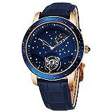 Graham Herren-Armbanduhr 46mm Armband Aligatorleder Blau Handaufzug 2GGAP.U01A
