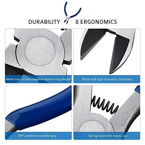 HOMASY-Kit-de-Pince-Coupante-Diagonale-125mm-Tresse–Dessouder-25mm-15m-avec-20-25-Jauge-Capacit-de-Coupe
