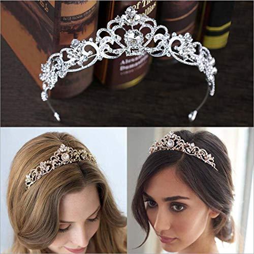 Simsly Wedding Diadem Brautblumenkronen für Frauen HG-23 -