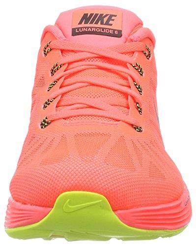 Nike Lunarglide 6, Running Entrainement Homme Mehrfarbig (Hot Lava/Black-Volt 807)
