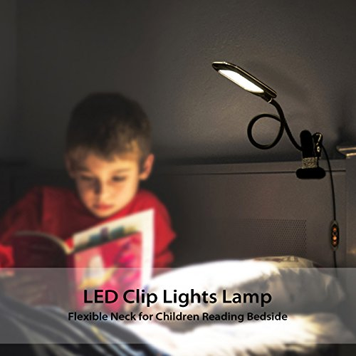lista dei prezzi LVWIT Lampada da Tavolo LED con Pinza Dimmerabile, 5W Max con 6 Luminosità + 5 Temperature di Colore, Luce gradevole per occhi, NERO VERSIONE