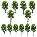 12stk Bäume Zug Eisenbahn Modellarchitektur Landschaft Landschaft Maßstab 1:50 (Grün) von WINOMO