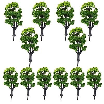 NUOLUX 1:50 Zug Landschaft Landschaft Modellbäume für Deko - 12pcs von NUOLUX