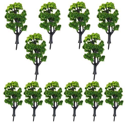 NUOLUX 1:50 Zug Landschaft Landschaft Modellbäume für Deko - 12pcs