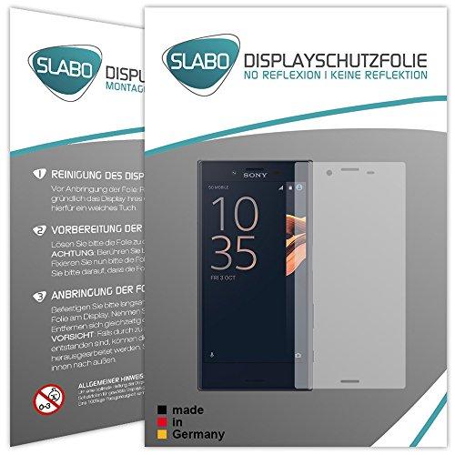 4 x Slabo Displayschutzfolie für Sony Xperia XCompact Displayfolie Schutzfolie Folie Zubehör (verkleinerte Folien, aufgrund der Wölbung des Displays)