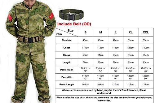 H Welt Shopping Herren Shirt Tactical BDU Combat Uniform Jacke & Hose Anzug für Armee Militär/Paintball/Jagd Shooting Krieg Spiel AT-digital/Foliage Green, AT-FG