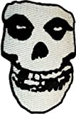 MISFITS Crimson Ghost Skull Schädel Patch Fleck, Officially Licensed Products Classic Rock Artwork, Iron-On / Sew-On, 7