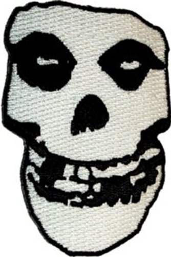 "MISFITS Crimson cremisi Ghost fantasma Skull cranio Patch toppa, Officially Licensed Products Classic Rock Artwork, Iron-On / Sew-On, 7"" x 2.5"" Embroidered ricamato PATCH"