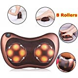 Premium Massage Pillow With Heat Balls And Car Adapter, Neck Massager Shoulder Massager Back Massager For Home, Office And Car Use Electronic Massage Pillow Massager Cushion Car Lumbar Neck Back Shoulder Heat Pillow Deep Kneading Massager Relax Pain Back