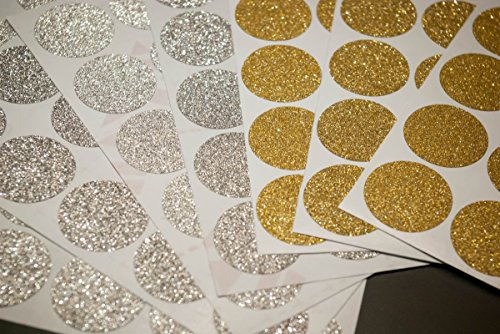 30-gold-or-silver-glitter-polka-dots-circles-wall-sticker-decal-many-sizes-envelope-seals-wedding-in