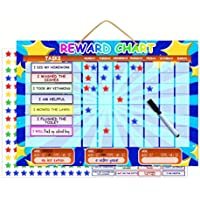 Magnetic Reward Chart | Dry Erase Children's Chore Or Task Planner | Encourage Good Behaiviour and Responsibility | Thick Buttons For Tiny Fingers Bonus Hanging Loop And Printable Coloring Sheets