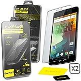 CaseBase® Premium **OnePlus Two ** La película protectora para la pantalla de vidrio templado - Paquete de dos para OnePlus Two