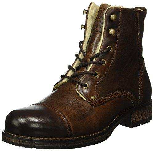 Mustang Herren 4865-608 Kurzschaft Stiefel, Braun (32 Dunkelbraun), 44 EU