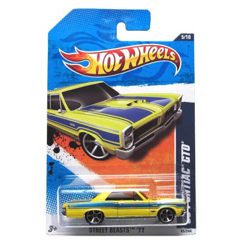 2011 Hot Wheels '65 Pontiac GTO Yellow/Blue #85/244 (Wheels Hot Gto)