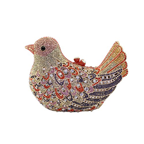 Abendtasche Hand Tasche Frauen Red Vogel Luxuxdiamanten EvzInwqpx