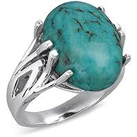 Bague turquoise argent femme-Bijou argent massif-Bijoux createur-Style Ethnique