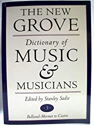 The new Grove; Dictionary of music and musicians