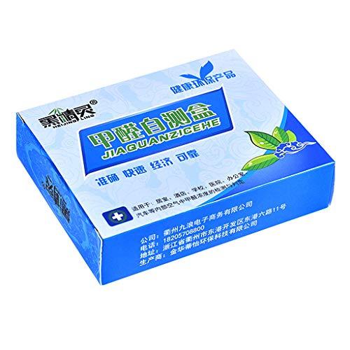 ZChun 1 Box Formaldehyd-Luft-Schnelltest-Kit Haushaltsluftverschmutzung Detektionssensor Tester Supplies