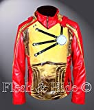 F&H Men's Distressed Legends of Tomorrow Firestorm Jacket 5XL Red