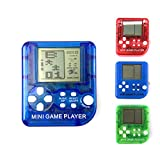 Super Mini Spielmaschine, 26in1 Kinder Tetris Handheld-Spielkonsole, tragbare Mini-Spiel, Handheld-Spielzeug, Handheld-Spiele Anti-Stress-Schlüsselanhänger,Schlüsselring Spielmaschine