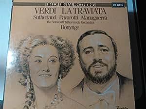 VERDI, Giuseppe: La Traviata -- Richard Bonynge (cond), National Philharmonic Orchestra, Sutherland, Pavarotti, Manuguerra -- DECCA () ----VINYL-DEC D212D3-DECCA - Inghilterra-VERDI Giuseppe-BONYNGE Richard (dir); MANUGUERRA Matteo (baritono); PAVAROTTI Luciano (tenore); SUTHERLAND Joan (soprano); The National Philarmonic Orchestra
