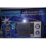 راديو 5 موجة يعمل بالكهرباء سوبر ساوند RX-72