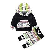 2 Stück Kinderkleidung Set Sonnena Baby Kapuzenpullover Mantel Outfits Kleinkind Junge Mädchen Patchwork Hoodie Tops +