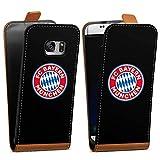 DeinDesign Tasche Hülle Flip Case kompatibel mit Samsung Galaxy S7 FCB Logo FC Bayern München