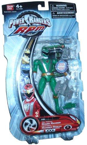 Power Rangers RPM 5 Inch Basic Action Figure Full Throttle Shark Ranger (Green) (Green Ranger Rpm)