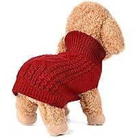 Camisetas para pequeño perros accesorios ropa Sannysis clásico suéter polar suéter ropa caliente suéter de invierno