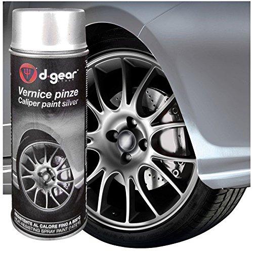 Preisvergleich Produktbild Lack Hohe Temperatur und Zangen Bremse d-gear Sprühfarbe Lack Spray hoher Temperatur Silber für Bremssattel Auto Tuning