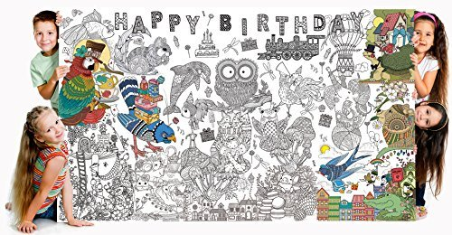 Bee Colorful Really Big Coloring Poster (60''x 36'') Happy Birthday by Bee Colorful