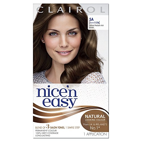 Clairol Nice N Easy Permanent Hair Colourant 117A - Natural Medium Ash Brown -