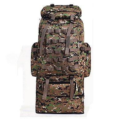 ZHUDJ 90 L Große Camouflage Rucksäcke Duffel Veranstalter Rucksack Reisen Für Männer Wonen Wandern & Camping Rucksack Jungle Camouflage Sporttaschen Khaki