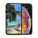WOCNEMP Parfait Tropical Beach Scene Apple téléphone XS Max Protecteur D'écran TPU...