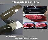 Dark Grey Tönungsfolie Blinker Scheinwerfer Folie Tint Film