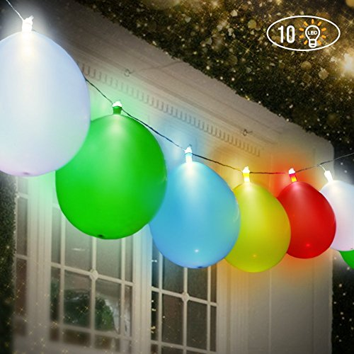 LED Leuchtende Luftballons Lichterketten, Premium Mixed-Farben Flashing Party Lichterketten, Batteriebetrieben, Ideal für Partys, Geburtstage und Hochzeitsdekorationen, mit Helium befüllbar, Luft