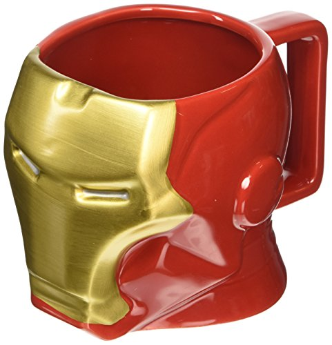 Offizielle-Marvel-Avengers-Iron-Man-3D-gemeieltes-Becher-Boxed