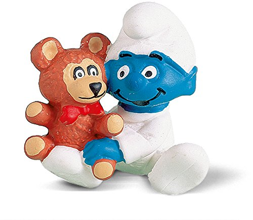 Schleich - Bebé pitufo con Osito de Peluche, Figura (20205) 1
