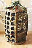 DanDiBo Weinregal Weinfass Holz 0416 Bar Flaschenständer 84 cm für 42 Fl. Regal Fass Holzfass Minibar