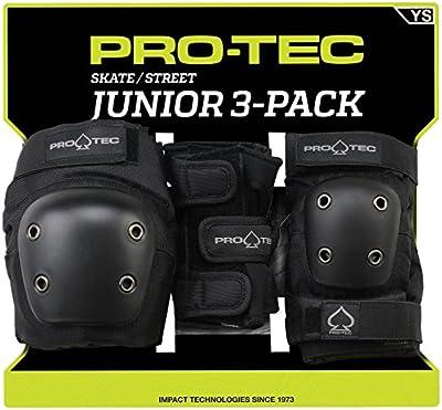 Pro-Tec Street Junior 3 Pack Protectores, Unisex Niños