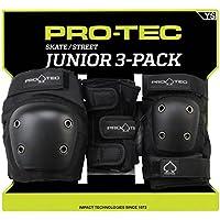 Pro-Tec Street Gear Junior 3 Pack Protecciones, Unisex niños, Black, M