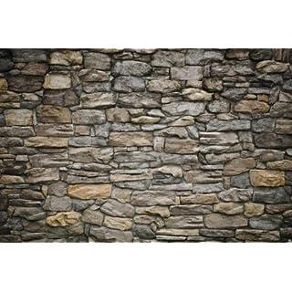 Fototapete Grey Stonewall Wandbild Dekoration Wandverkleidung Stein  Steinoptik Tapete Steinmuster 1000Steine Tapte Steinoptik 3d | Foto