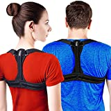 Modetro Sports Posture Corrector Spinal Support - Physical Therapy Posture Brace for Men or Women - Back, Shoulder, and Neck Pain Relief - Spinal Cord Posture Support Black Medium (M) 39 - 45 in