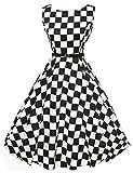 Donne Vestiti Estivi Vintage Casual Cocktail Vestito Cotone 10# large