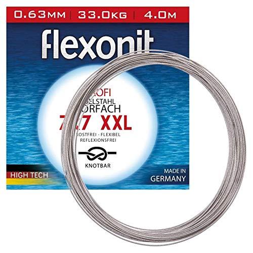 Flexonit Stahlvorfach Angeln Meterware - 7x7 XXL 4m 1,00mm 80,0kg