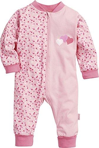 Playshoes Baby - Mädchen Schlafstrampler Schlafanzug Schlafoverall Jersey Herzen, Gr. 68, Rosa (original 900) (Baby-jersey-windel)