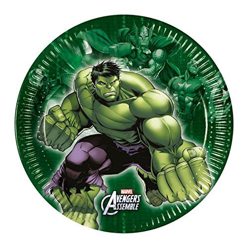 Marvel 20cm Avengers Assemble Pappteller, 8Stück -