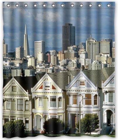 AUDIE Outlet-Seller Duschvorhang San Francisco, 152,4 x 182,9 cm